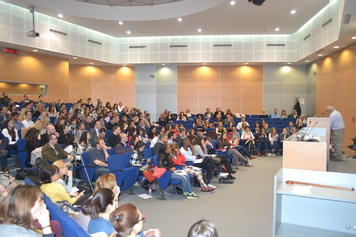 Atmosfera na predavanju profesora Maršala Ganca